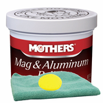 Mothers Mag & Aluminum Polish 5 oz., Microfiber Cloth & Foam Pad Kit