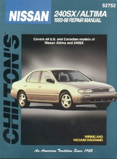 Image of Nissan 240SX/Altima 1993-98 Chilton Manual