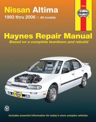 nissan altima haynes repair manual 1993 2006 hay72015. Black Bedroom Furniture Sets. Home Design Ideas