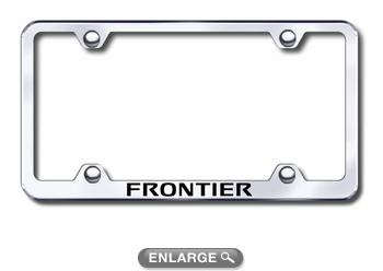 Nissan Frontier Laser Etched Stainless Steel Wide License