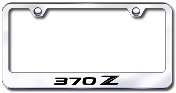 Nissan Stylized 370Z Laser Etched Stainless Steel License Plate ...