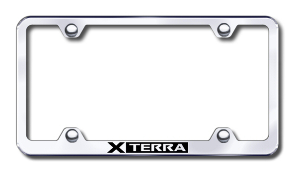 Nissan Xterra Laser Etched Stainless Steel Wide License Plate Frame ...