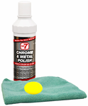 No. 7 Chrome & Metal Polish (8 oz), Microfiber Cloth & Foam Pad Kit