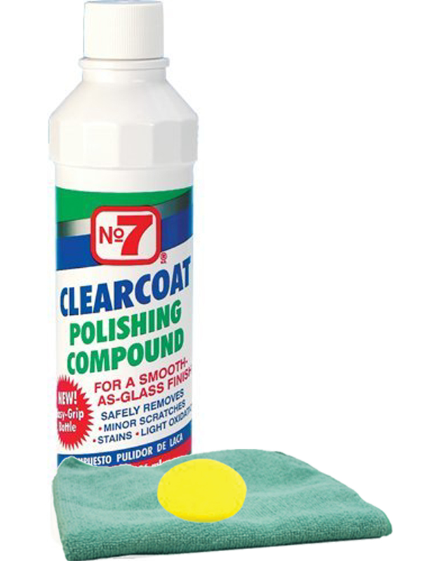 Image of No. 7 Clearcoat Polishing Compound Microfiber Cloth & Foam Pad