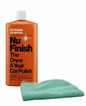 Nu Finish Once-A-Year Car Polish (16 oz) & Microfiber Cloth Kit