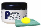 P21S Concours-Look Carnauba Paste Wax, Microfiber Cloth & Foam Pad Kit