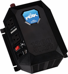 Peak 1200 Watt Mobile Power Outlet & Charger with a 2.1A-USB Port