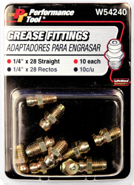 Image of Performance Tool 10 Piece Grease Fitting Assortment