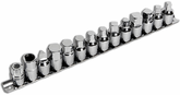 Performance Tool 15 Piece Drain Plug Socket Set