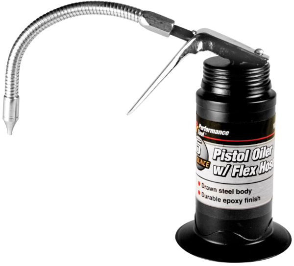 Image of Performance Tool 6 Oz. Flexible Hose Pistol Oiler
