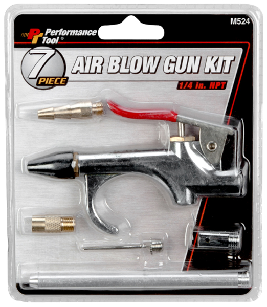 Image of Performance Tool 7 Piece Blowgun Kit