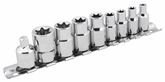 Performance Tool 9 Piece Steel Star Socket Set