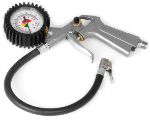 Performance Tool Tire Inflator With Dial Gauge