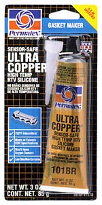 Image of Permatex High-Temp Ultra Copper RTV Silicone Gasket Maker 3 oz.