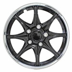 Pilot Automotive Black and Chrome Wheel Cover, (Set of 4)