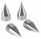 Pilot Chrome Coated Spike Tire Valve Caps - (4 Piece)