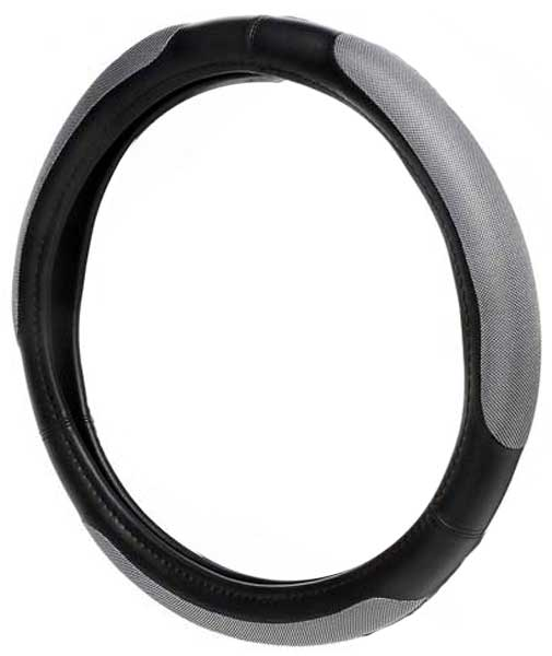 Image of Black Platinum Grip Steering Wheel Cover