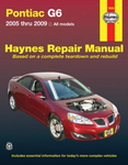Pontiac G6 Haynes Repair Manual (2005-2009)