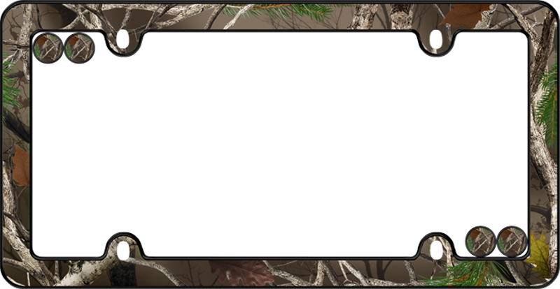 Real Tree Camouflage License Plate Frame Kit Cru23095