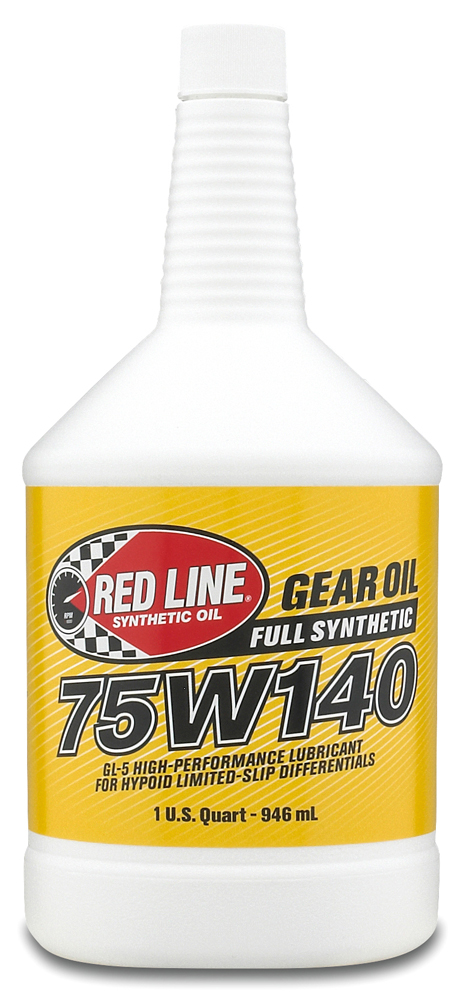 Image of Red Line 75W140 Synthetic Gear Oil 1 Qt.