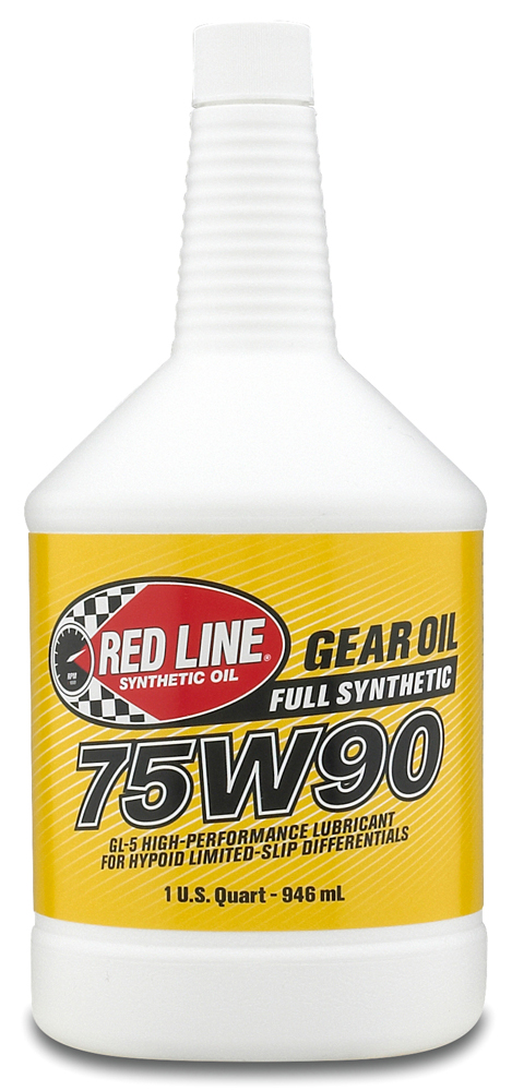 Image of Red Line 75W90 Synthetic Gear Oil 1 Qt.