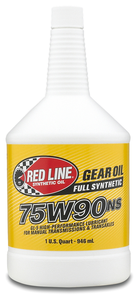 Red line synthetic 75w90 non slip manual transmission oil for Synthetic vs non synthetic motor oil