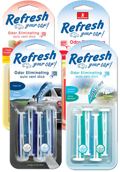 Refresh Vent Stick Dual Scented Air Fresheners 4 Pack