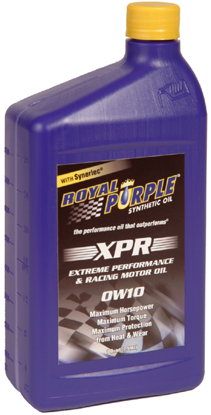Royal purple 0w10 extreme performance racing 9 motor oil for Motor oil weight meaning