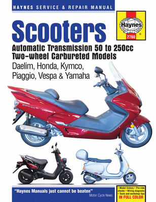 Scooters With Automatic Transmission 50cc - 250cc