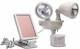Solar-Power Motion-Activated Dual Head Security Light