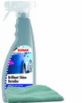 Sonax Brillant Shine Spray Detailer (25 oz), Microfiber Cloth Kit