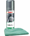 Sonax Leather Foam Cleaner & Conditioner (13.02 oz) & Microfiber Cloth Kit