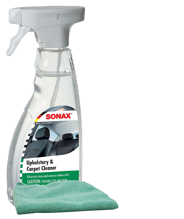 sonax upholstery carpet cleaner 16 9 oz microfiber cloth kit son321200kit. Black Bedroom Furniture Sets. Home Design Ideas