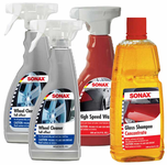 Sonax Wheel Cleaner, Car Wash & Wax Kit