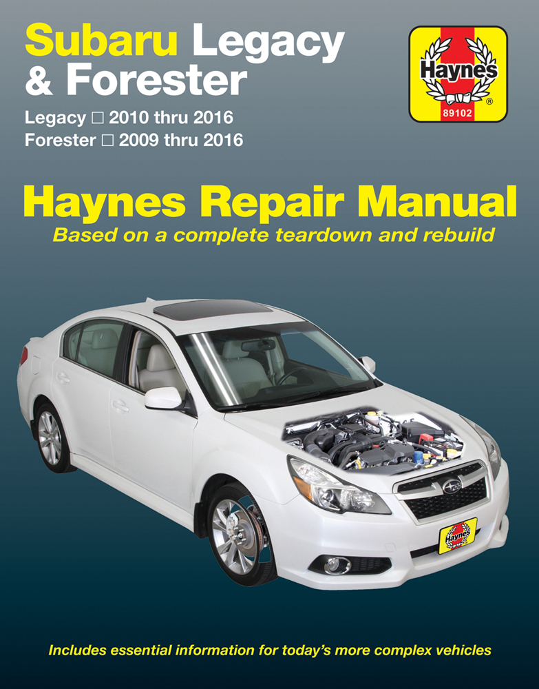 subaru forester legacy haynes repair manual 2009 2016 hay89102 rh autobarn net Haynes Manual Pictures Back Clymer Manuals