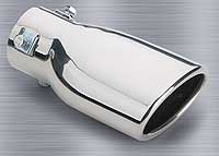 """Image of """"Superior Stainless Steel Slant Cut Oval Bolt-on Exhaust Tip (4"""""""" x 7"""""""")"""""""
