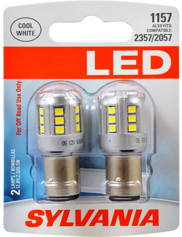 Image of Sylvania 1157 LED Cool White Miniature Bulbs (Pair)