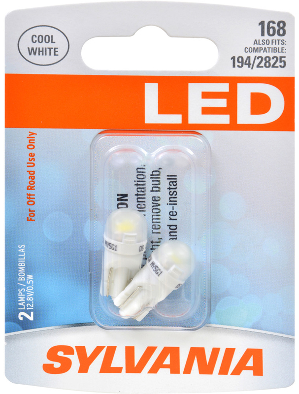 Image of Sylvania 168 LED T10 Cool White Miniature Bulbs (Pair)