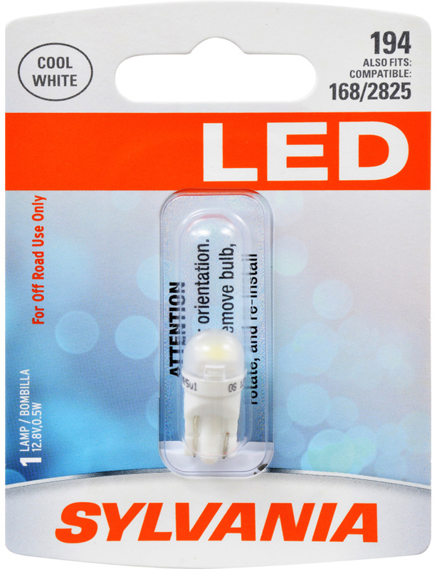 Image of Sylvania 194 LED T10 Cool White Miniature Bulb