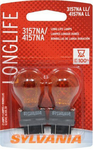 Sylvania 4157NALL Amber Colored Long Life Mini Bulbs