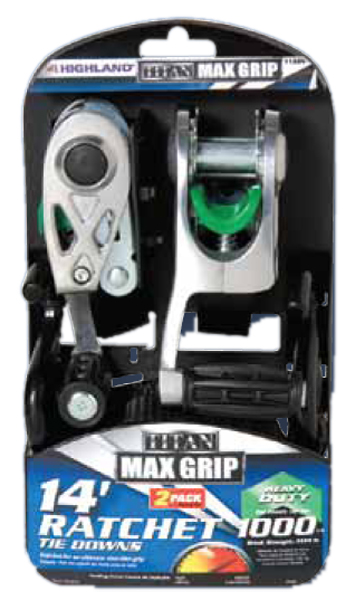 "Image of Titan Max Grip Heavy Duty 14"" Ratchet Tie Down Pair"