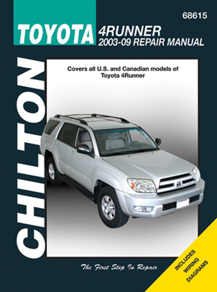 Image of Toyota 4Runner Chilton Repair Manual 2003 - 2009