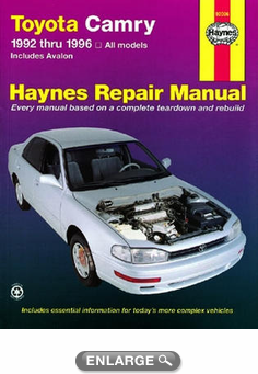 Toyota Camry & Avalon Haynes Repair Manual (1992-1996)