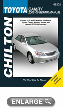toyota camry chilton repair manual 2002 2006 hay68202. Black Bedroom Furniture Sets. Home Design Ideas