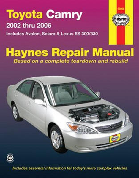 toyota camry haynes repair manual 2002 2006 hay92008. Black Bedroom Furniture Sets. Home Design Ideas
