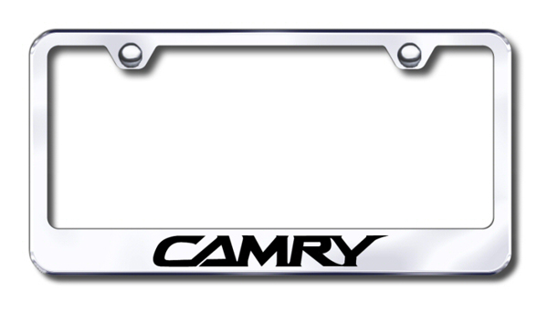 Toyota Camry Laser Etched Stainless Steel License Plate Frame ...