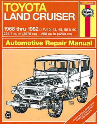 toyota land cruiser haynes repair manual 1968 1982 hay92055 rh autobarn net Haynes Repair Manual 1991 Honda Civic Haynes Repair Manuals Mazda