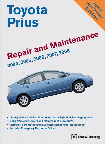 toyota prius repair and maintenance manual 2004 2008 xxxtp08 rh autobarn net Emergency Response Guide Green Section Hybrid Emergency Response Guide