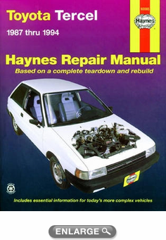 Toyota Tercel Haynes Repair Manual (1987-1994)