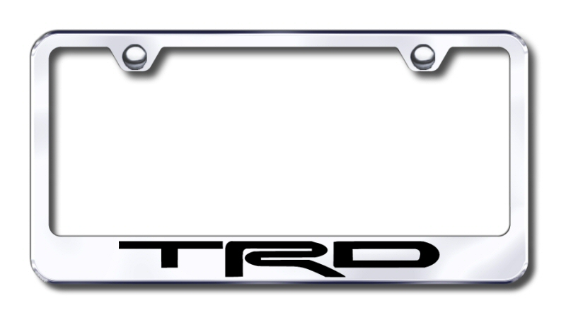 Delightful Toyota TRD Laser Etched Stainless Steel License Plate Frame